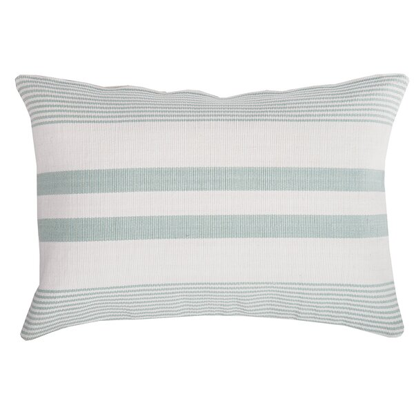 Stripe 100% Cotton Lumbar Pillow by C&F Home